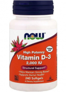 Витамин Д3 NOW Vitamin D-3 2,000IU  (240 softgels)