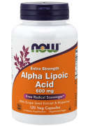 Альфа-липоевая кислота NOW Alpha Lipoic Acid 600mg   (120 vcaps)