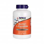 Ацетил-Л-карнитин NOW Acetyl-L-Carnitine 500mg   (200 vcaps)