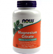 Магний NOW Magnesium Citrate   (120 vcaps)